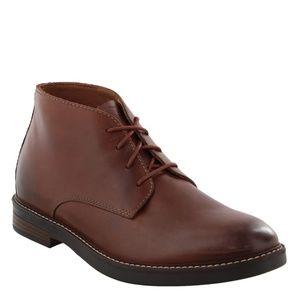 Clarks Paulson Mid Mahogany Brown Leather Boots